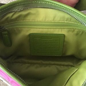 Coach Bags - Pink and Green coach purse!